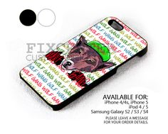 Wolf Gang OFWGKTADGAF case for iPhone 4/4S/5 iPod 4/5 Galaxy S2/S3/S4