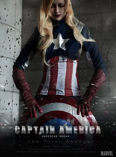 Lady Captain America by ~HinoSherloki. I'm realllly starting to want to make a fem Cap costume. Superhero Cosplay, Marvel Cosplay, Cosplay Costumes, Halloween Costumes, Cosplay Ideas, Marvel Costumes, Marvel Dc, Marvel Comics, Captain America Cosplay