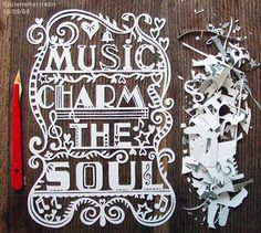 Music Charms the Soul Paper Cutout