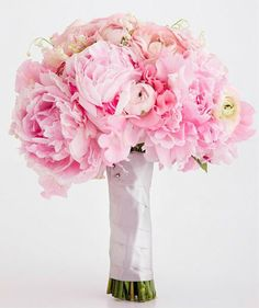 Bridal Bouquet Pink Peonies