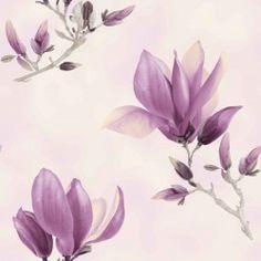 Dekorační látka Magnolie fialová Plants, Painting, Magnolias, Painting Art, Paintings, Plant, Painted Canvas, Drawings, Planets