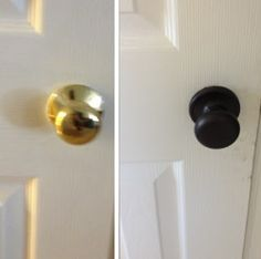 Landover Home: DIY Door Knob Refresh very smart idea i have ugly brown doors i want to paint and i have these hidious knobs too so good fix for cheap