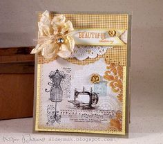 Vintage Collage Style Handmade Greeting Card by paperlovesglue