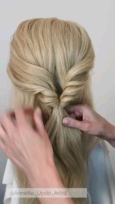 Hairdo For Long Hair, Bun Hairstyles For Long Hair, Easy Hairstyles For Weddings, Hair Updo Easy, Hairstyles For Bridesmaids, Diy Hair Updos, Updo Hairstyles Tutorials, Wedding Hairstyles Tutorial, Quick Hair
