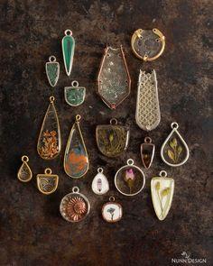 – Part 2 Online Tutorials using Resin, Clay, Molds and Organics - Nunn Design Diy Resin Art, Diy Resin Crafts, Jewelry Crafts, Jewelry Ideas, Resin Jewelry Tutorial, Resin Tutorial, Making Resin Jewellery, Resin Jewlery, Soldering Jewelry