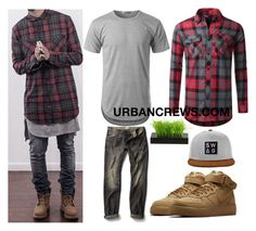 """URBANCREWS Basic Longline T-shirt Outfit"" by urbancleo ❤ liked on Polyvore featuring MANGO MAN, men's fashion and menswear"