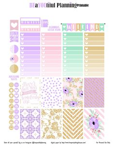 Free Printable Shine Planner Stickers | beayoutifulplanning.com