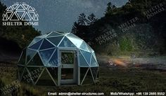 6m Glass dome house - Living dome homes for sale - Geodesic glass dome with aluminum door - Glamping domes for sale - Garden igloo geodesic dome - Igloo hotel - Glass dome hotel - Shelter Dome (2)