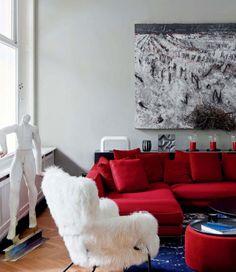 60 Salas Com Sofás Vermelhos U2013 Fotos U0026 Inspirações. Red CouchesRed SofaRed  Living RoomsModern ... Part 64