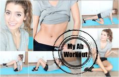 Get Healthy With Me   My Ab Workout Routine!  Minus the crunches possibly? If its true that they strain your back..