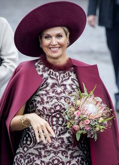 Queen Maxima wore a Natan branded silk coat and dress during the visit of the royal couple in the city of Amersfoort/ 24 Oct. 2017