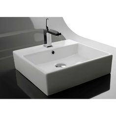 "18"" wide (long) Ceramica Valdama Unlimited Wall Mount Bathroom Sink 