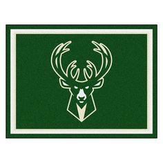 Milwaukee Bucks NBA 8ft x10ft Area Rug