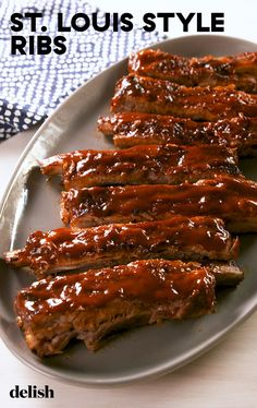 Pork Rib Recipes, Meat Recipes, Cooking Recipes, Beef Ribs Recipe Oven, Smoker Recipes, Cooking Tips, Pork Spare Ribs, Pork Ribs, Grilled Spare Ribs