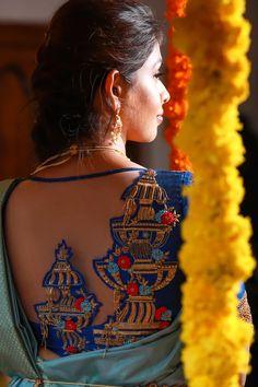 Blouse Back Neck Designs, Designer Blouse Patterns, Fancy Blouse Designs, Wedding Saree Blouse Designs, Diana, Stylish Blouse Design, Blouses, Work Blouse, Organza Saree