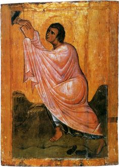 Моисей, получающий скрижали. Начало XIII века.