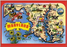 Maryland Postcard, went to middle and high school in Catonsville.  Later I lived in Ocean City for 8 years...