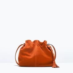 Leather Bucket Bag with Tassel-View all-Handbags-WOMAN | ZARA United States