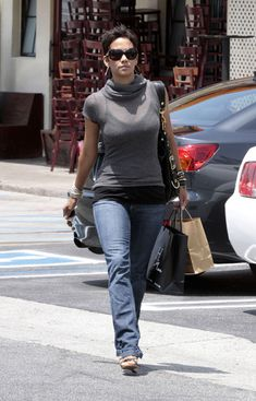 Halle Berry Knee High Boots - Halle Berry Looks - StyleBistro