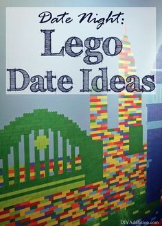 Score brownie points your husband while easily getting a date night in at home with these awesome Lego Date Night Ideas!