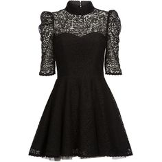 Mairi McDonald - Joplin Lace Dress (4.470 BRL) ❤ liked on Polyvore featuring dresses, vestidos, short dresses, black, short black cocktail dresses, skater skirt, black mini dress, lace cocktail dress and circle skirt