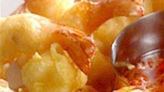 Deep-fried Battered Prawns with Sweet Chilli and Carrot Dipping Sauce by Kylie Kwong