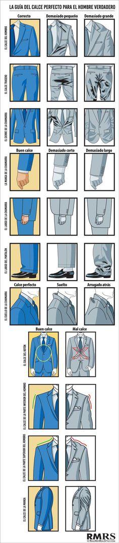 Con estas pocas imágenes aprenderás a vestir perfectamente traje