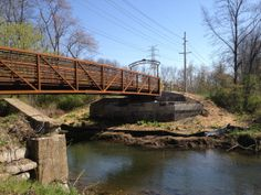 The new bridge over Mill Creek in Ligonier extends the Ligonier Valley trail from the township into the borough. #ligoniervalleytrail  (Photo by Jennifer Sopko)