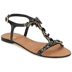 Stylish #Womensandals for summers KHLOE Black, available in discounted rates at Spartoo.co.uk Colour: Black, Price:  £ 58.64