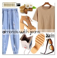 almonds with jeans by mirisproleca on Polyvore featuring philosophy, StreetStyle, jeans and summerstyle