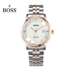 BOSS Germany watches men luxury brand dayjust 21 jewels MIYOTA CO. JAPAN automatic self-wind mechanical golden stainless steel