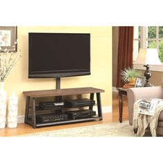 Coaster Furniture 700217 TV Stand in Brown Wood