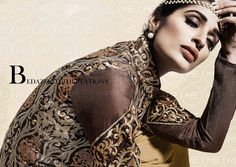 Startling Full Sleeve Ceremonial Suit with Resham and Thread Embroidery