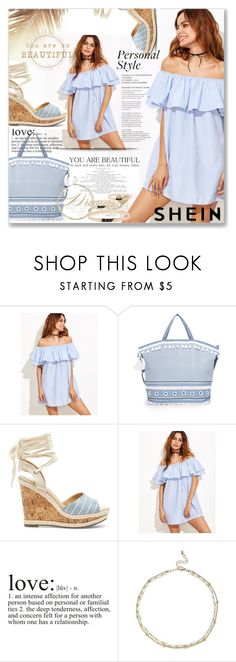 """Shein Dress"" by sanela1209 ❤ liked on Polyvore featuring Dodo Bar Or, Sole Society and WALL"