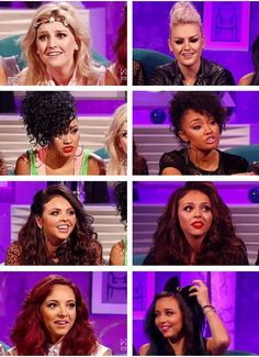 Little mix With Alan Carr 2012 and 2013. Ahhh Jesy and Jade switched hair! :)