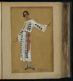 Robe Djaoni, Paris 1920, copyright Patrimoine Lanvin #JeanneLanvin #Lanvin