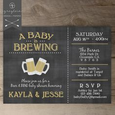 A Baby is Brewing / Love is Brewing / BaByQ Baby by greylein, $17.99