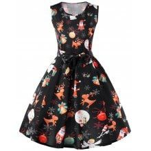 Christmas Reindeer Fit and Flare Dress -  22.33 Free Shipping 338fadff51f1