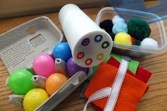 Simple, homemade activities for toddlers and preschoolers (busy bag activities)