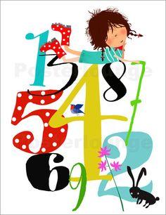 Poster-Leinwandbild-Emmas-Zahlen-Elisandra