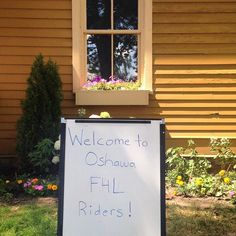 Welcome to #Oshawa #F4LBR riders, biking their way along the Waterfront Trail for a great cause!