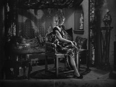 The pornographer's cottage in The Big Sleep is one of my favorite interiors. It is full-on Chinoiserie.