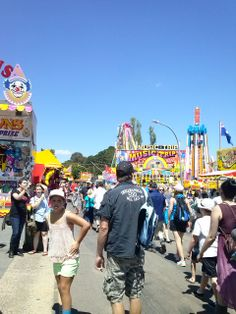 Sideshow alley at the Canberra Show 2014.