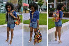 Ankara style backpack