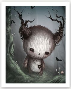 Afterland - A collectible card game on iTunes and Google Play #Afterland Gothic Fairy, Fantasy Photography, Cute Monsters, Creepy Cute, Horror Art, Surreal Art, Dark Art, Cute Drawings, Altered Art