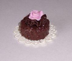 tarta chocolate con rosa