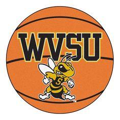 West Virginia State Yellow Jackets NCAA Basketball Round Floor Mat (29)