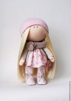 Коллекционные куклы ручной работы. Ярмарка Мастеров - ручная работа. Купить Аленка. Handmade. Розовый, интерьерная кукла, блондинка, хлопок
