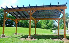 Solar pergola by TFBC member Hugh Lofting Timber Framing, Inc.
