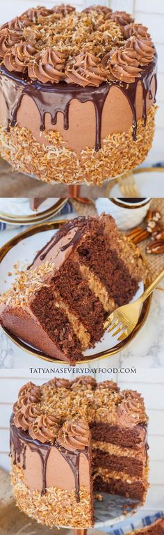 Chocolate Cake Video, Chocolate Buttercream Recipe, Chocolate Sponge, Chocolate Recipes, Chocolate Cupcakes, American Chocolate, German Chocolate, Chocolate Box, Coconut Pecan